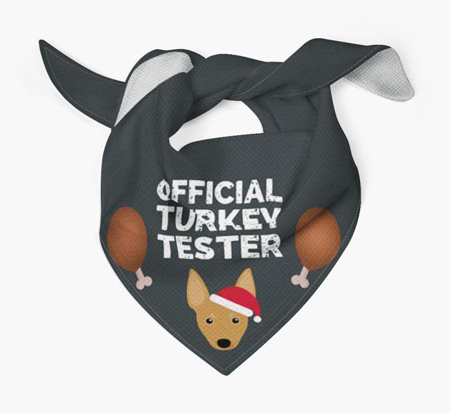 'Official Turkey Tester' Christmas Bandana with Miniature Pinscher Icon
