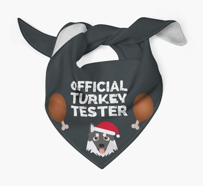 'Official Turkey Tester' Christmas Bandana with Northern Inuit Icon