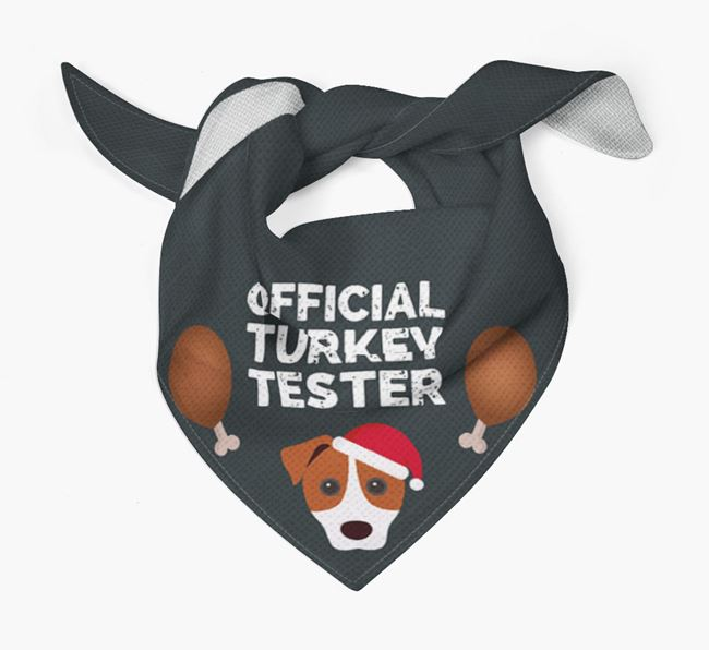 'Official Turkey Tester' Christmas Bandana with Parson Russell Terrier Icon