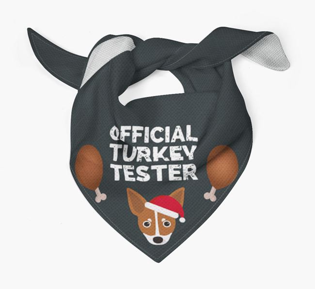 'Official Turkey Tester' Christmas Bandana with Russian Toy Icon
