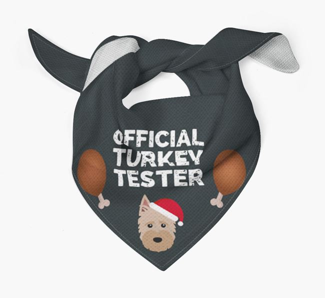'Official Turkey Tester' Christmas Bandana with Scottish Terrier Icon