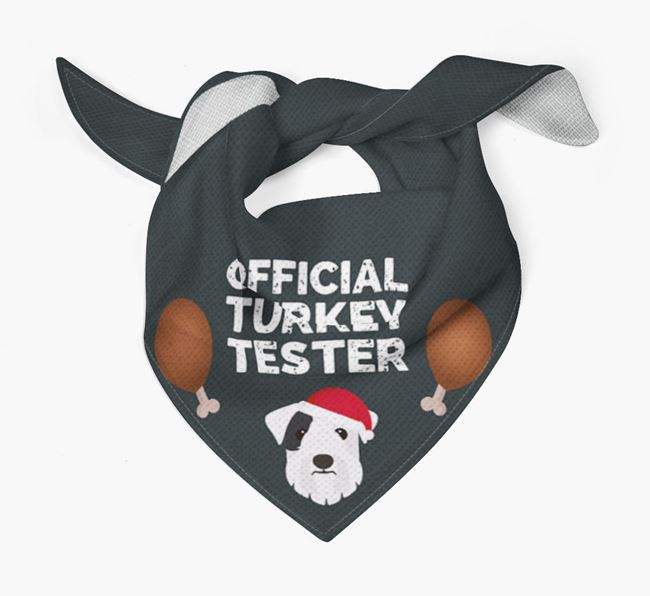 'Official Turkey Tester' Christmas Bandana with Sealyham Terrier Icon