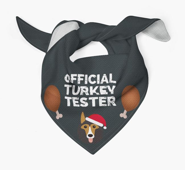 'Official Turkey Tester' Christmas Bandana with Shollie Icon