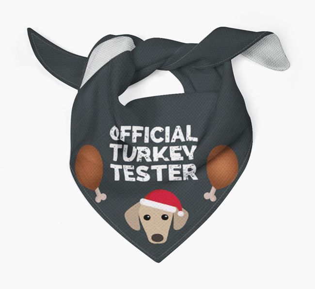 'Official Turkey Tester' Christmas Bandana with Sloughi Icon