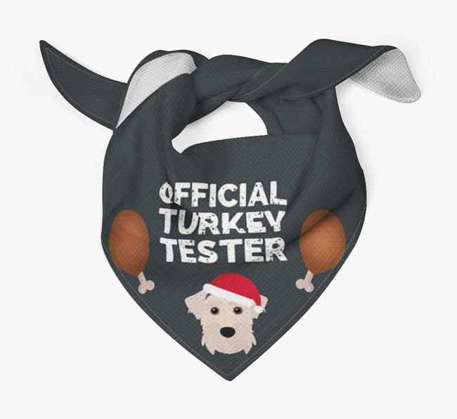 'Official Turkey Tester' Christmas Bandana with Sporting Lucas Terrier Icon