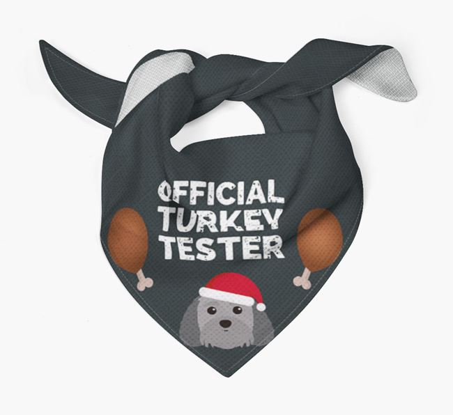 'Official Turkey Tester' Christmas Bandana with Terri-Poo Icon