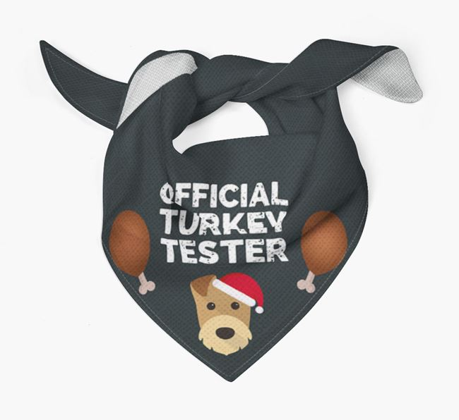 'Official Turkey Tester' Christmas Bandana with Welsh Terrier Icon