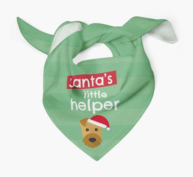 'Santa's Little Helper' Christmas Bandana with Airedale Terrier Icon
