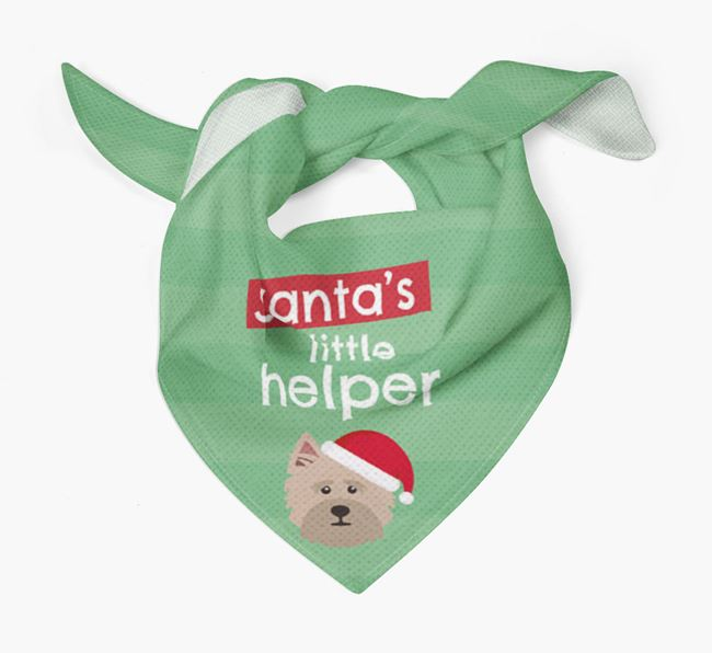 'Santa's Little Helper' Christmas Bandana with Cairn Terrier Icon