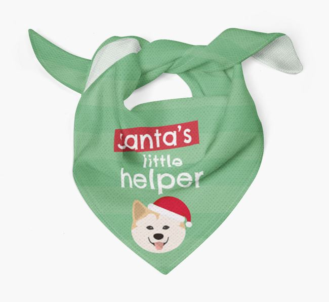 'Santa's Little Helper' Christmas Bandana with Chusky Icon
