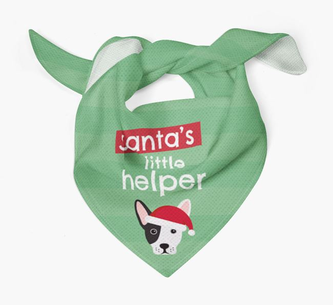 'Santa's Little Helper' Christmas Bandana with French Bull Jack Icon