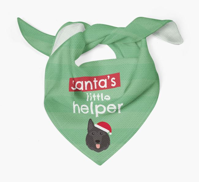 'Santa's Little Helper' Christmas Bandana with German Shepherd Icon