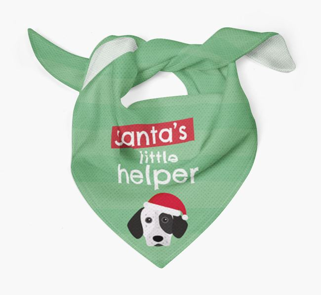 'Santa's Little Helper' Christmas Bandana with German Shorthaired Pointer Icon