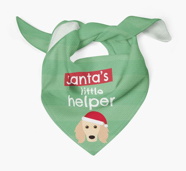 'Santa's Little Helper' Christmas Bandana with Golden Dox Icon