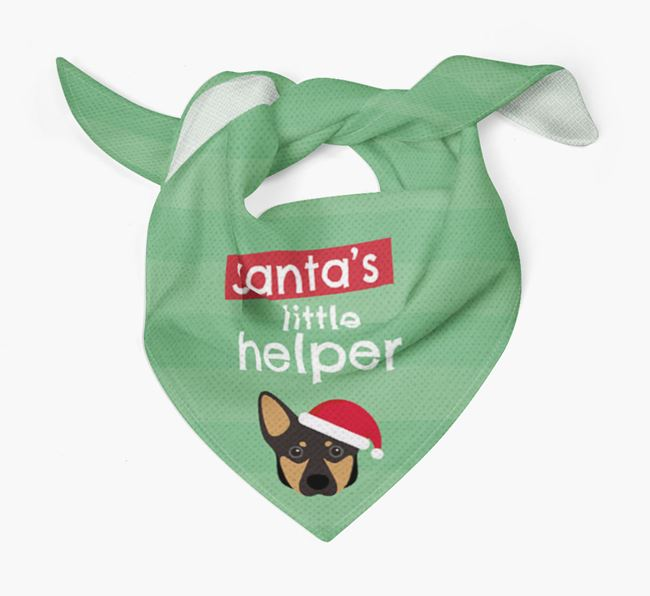 'Santa's Little Helper' Christmas Bandana with Lancashire Heeler Icon