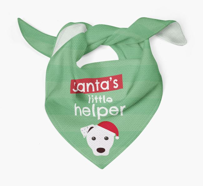 'Santa's Little Helper' Christmas Bandana with Parson Russell Terrier Icon