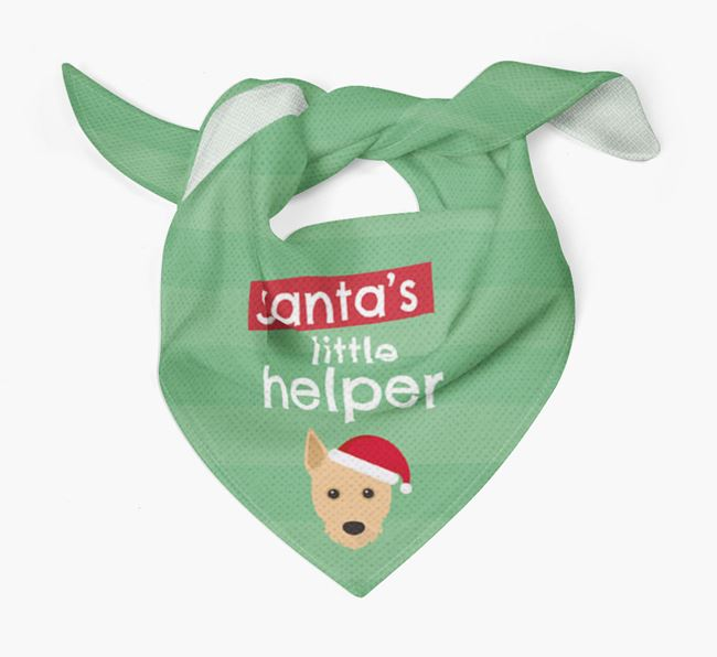 'Santa's Little Helper' Christmas Bandana with Portuguese Podengo Icon