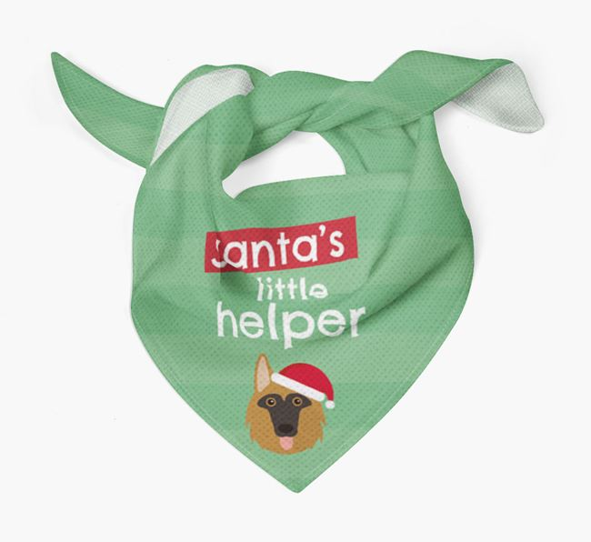 'Santa's Little Helper' Christmas Bandana with Shollie Icon