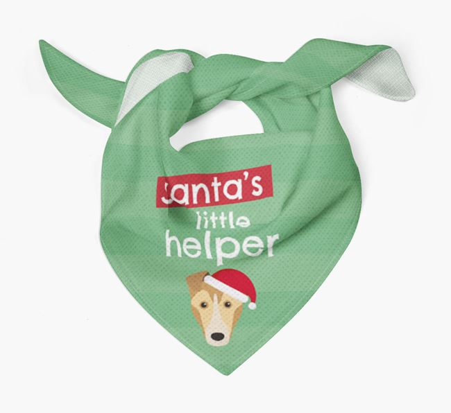 'Santa's Little Helper' Christmas Bandana with Smooth Collie Icon