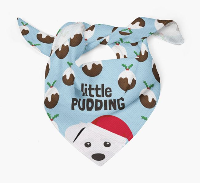 'Little Pudding' Christmas Bandana for your Schnoodle