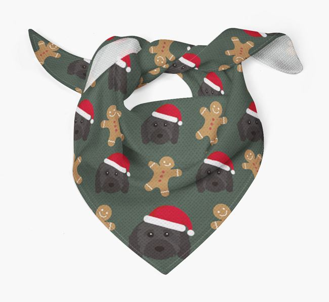 Gingerbread Pattern Christmas Bandana for your Cavapoo
