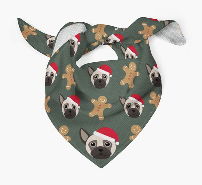 Gingerbread Pattern Christmas Bandana for your Chug