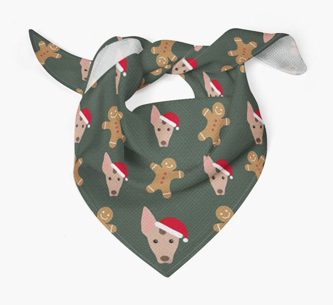 Gingerbread Pattern Christmas Bandana for your Mexican Hairless