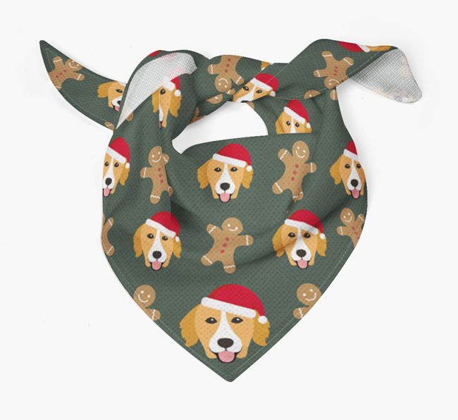 Gingerbread Pattern Christmas Bandana for your Nova Scotia Duck Tolling Retriever