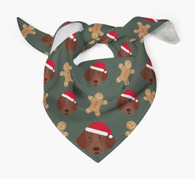 Gingerbread Pattern Christmas Bandana for your Pointer