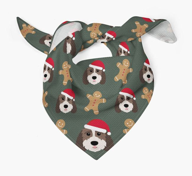 Gingerbread Pattern Christmas Bandana for your Sproodle