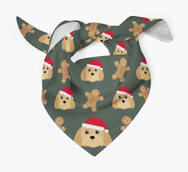 Gingerbread Pattern Christmas Bandana for your Terri-Poo