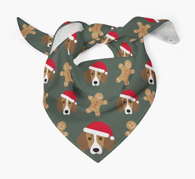 Gingerbread Pattern Christmas Bandana for your Trailhound
