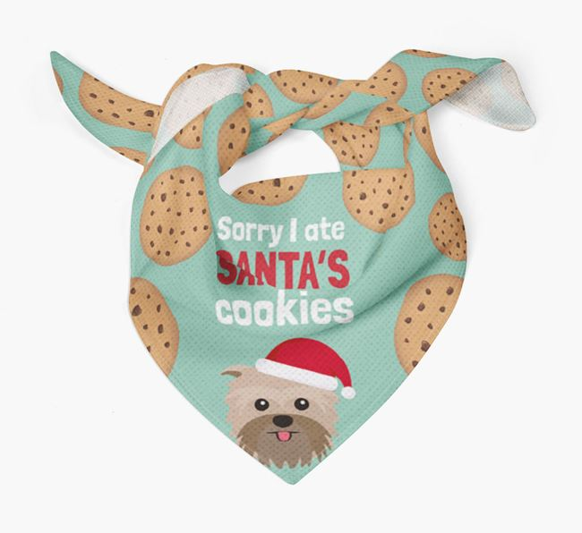 'I ate Santa's Cookies' Christmas Bandana with Affenpinscher Icon