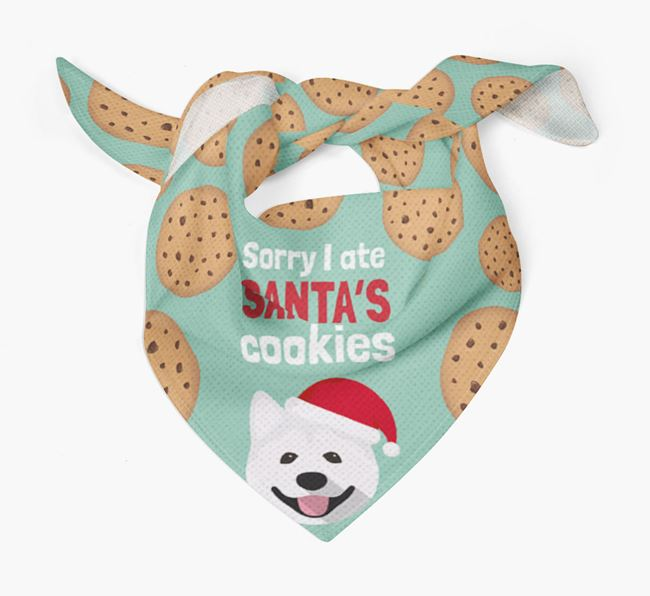 'I ate Santa's Cookies' Christmas Bandana with Akita Icon