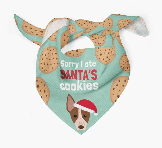 'I ate Santa's Cookies' Christmas Bandana with American Hairless Terrier Icon