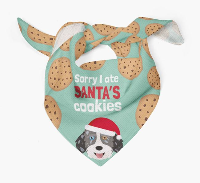 'I ate Santa's Cookies' Christmas Bandana with Aussiedoodle Icon