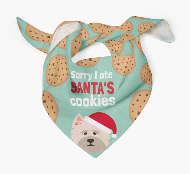 'I ate Santa's Cookies' Christmas Bandana with Cairn Terrier Icon
