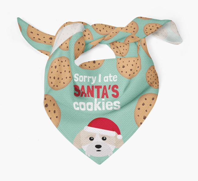 'I ate Santa's Cookies' Christmas Bandana with Cockachon Icon