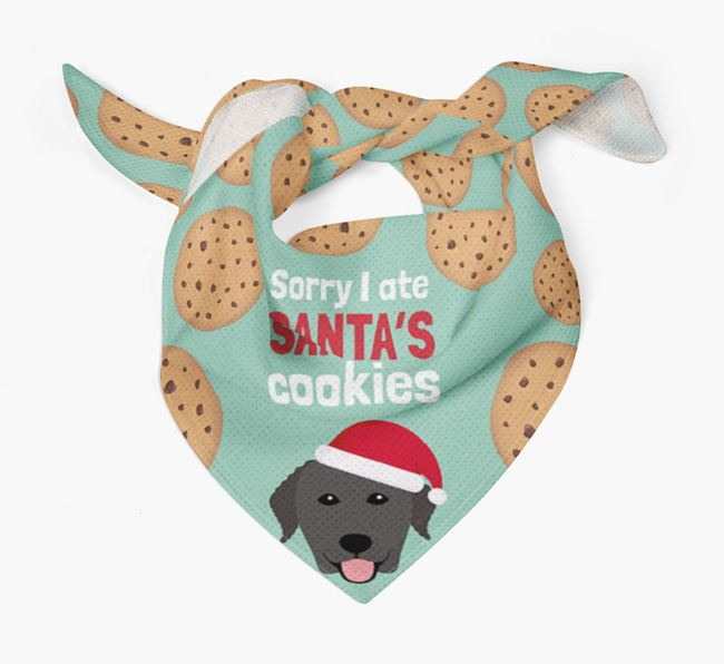 'I ate Santa's Cookies' Christmas Bandana with Curly Coated Retriever Icon