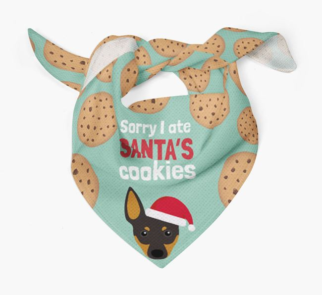 'I ate Santa's Cookies' Christmas Bandana with English Toy Terrier Icon