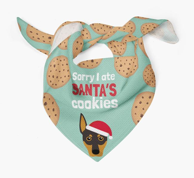 'I ate Santa's Cookies' Christmas Bandana with German Pinscher Icon