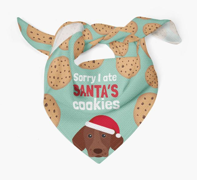'I ate Santa's Cookies' Christmas Bandana with German Shorthaired Pointer Icon