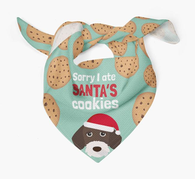 'I ate Santa's Cookies' Christmas Bandana with German Wirehaired Pointer Icon