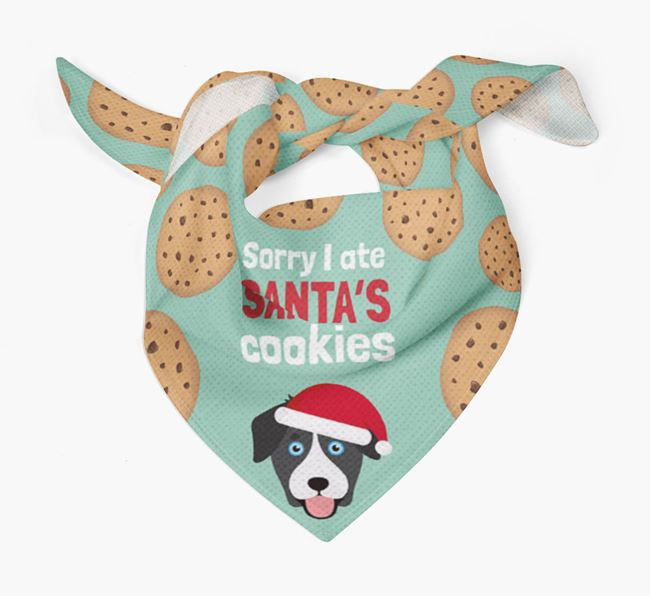 'I ate Santa's Cookies' Christmas Bandana with Goberian Icon