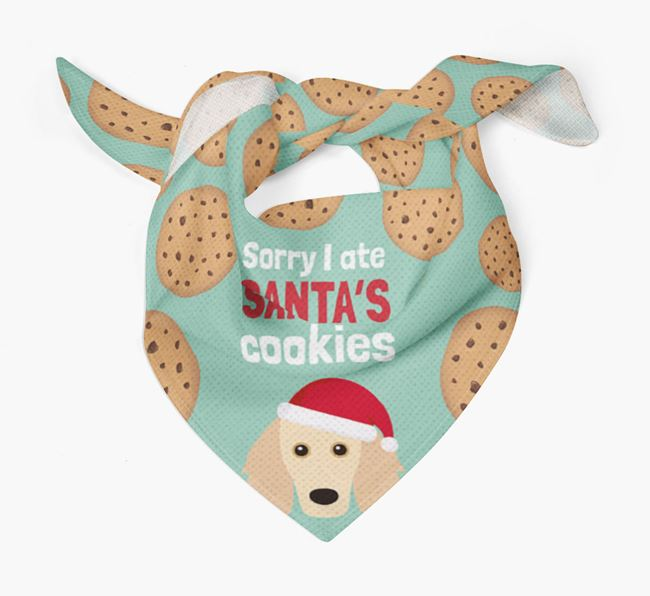 'I ate Santa's Cookies' Christmas Bandana with Golden Dox Icon