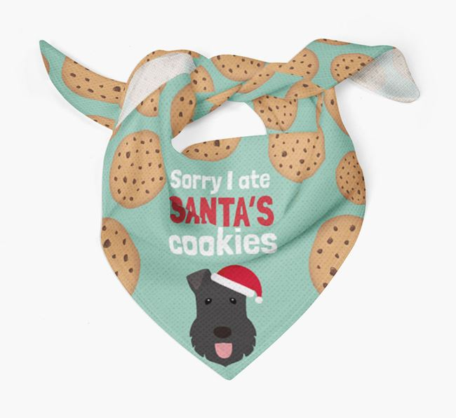 'I ate Santa's Cookies' Christmas Bandana with Kerry Blue Terrier Icon