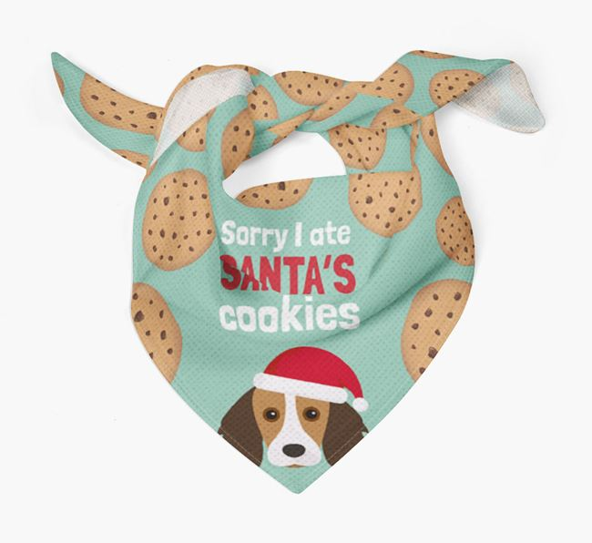 'I ate Santa's Cookies' Christmas Bandana with Kooikerhondje Icon
