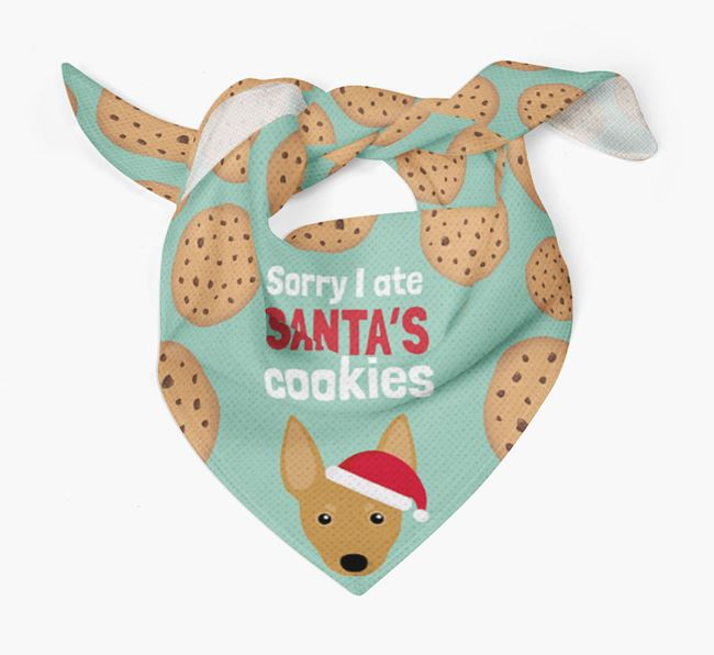 'I ate Santa's Cookies' Christmas Bandana with Miniature Pinscher Icon