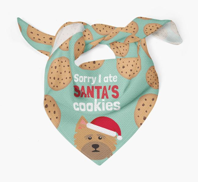 'I ate Santa's Cookies' Christmas Bandana with Norwich Terrier Icon