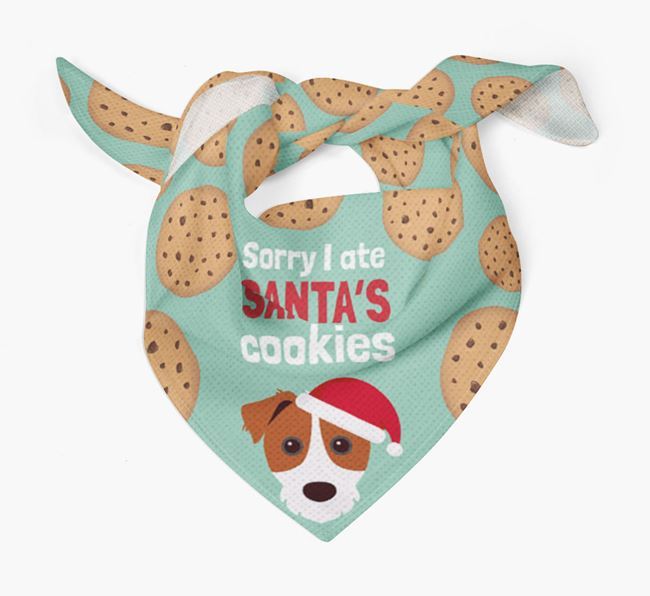 'I ate Santa's Cookies' Christmas Bandana with Parson Russell Terrier Icon